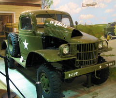 Army truck at Fort Jackson Museum